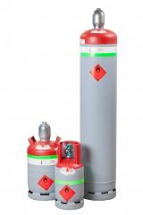 Lefejtő palack gyúlékony hűtőközegekhez